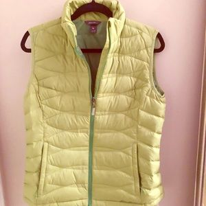 Eddie Bauer down vest in lime green. Medium
